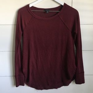 Lucky Brand Long sleeved tee shirt maroon red